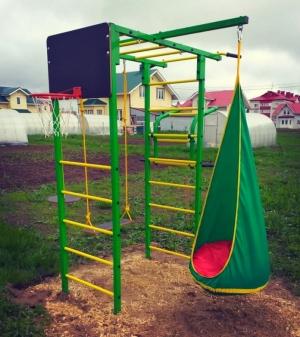 Подвесной кресло кокон Контраст усиленное ∅ 60 см.+подвес. ЦВЕТ МИКС