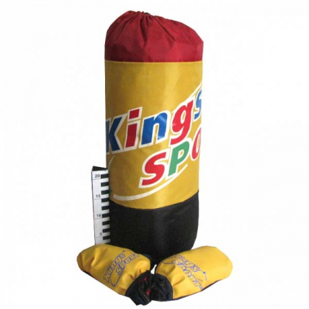 Большой боксёрский набор груша+перчатки с креплением King Sport от 3 до 9 лет