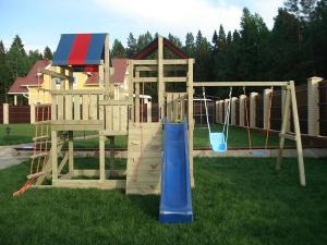 Деревянная детская площадка Пикник Твин