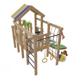 Детский игровой КОМПЛЕКС - ЧЕРДАК из дерева НЕМО