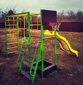 Уличный спортивный комплекс Олимпик-6.3 c пластиковым скатом