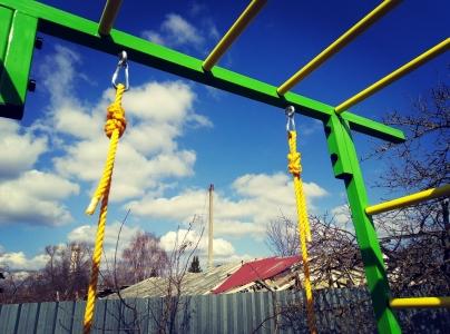 Уличный спортивный комплекс Олимпик-8.4 с гнездом плетеным 80 см.