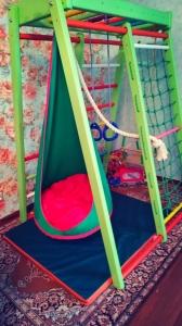 Подвесной кресло кокон Контраст усиленное ∅ 60 см.+подвес.