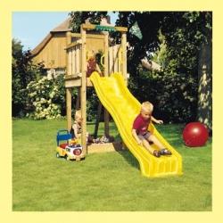 Деревянная детская мини - площадка с горкой Пикник