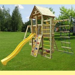 Деревянная детская площадка  Пикник Стандарт + Шведская стенка с турником