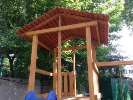 Деревянная крыша к Детской деревянной площадке для дачи Мадрид