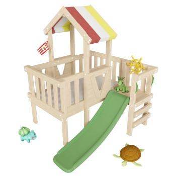 Детский игровой КОМПЛЕКС - ЧЕРДАК из дерева СКУБИ