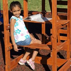 Дополнительное оборудование к деревянной площадке столик со скамьями БЕЗ ТЕНТА!