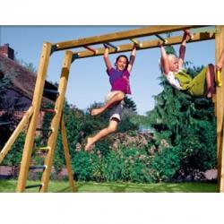 Дополнительное оборудование .  Рукоход ( без качелей )  к деревянной детской площадке серии Пикник
