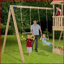 Дополнительное оборудование .  Секция дополнительная (без качелей) к деревянной детской площадке серии Пикник