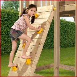 Дополнительное оборудование . Скалодром к деревянной детской площадке серии Пикник .
