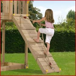 Дополнительное оборудование .  Трап разной длины и наклона к деревянной детской площадке серии Пикник