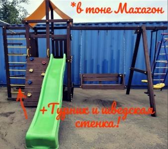 Деревянная детская площадка Пикник с диванчиком